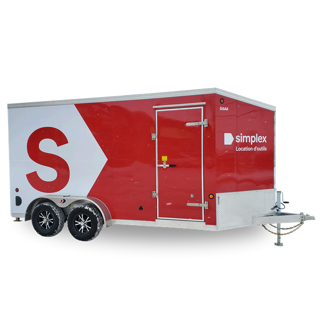 Closed trailer 3500lbs 7ft x 14ft