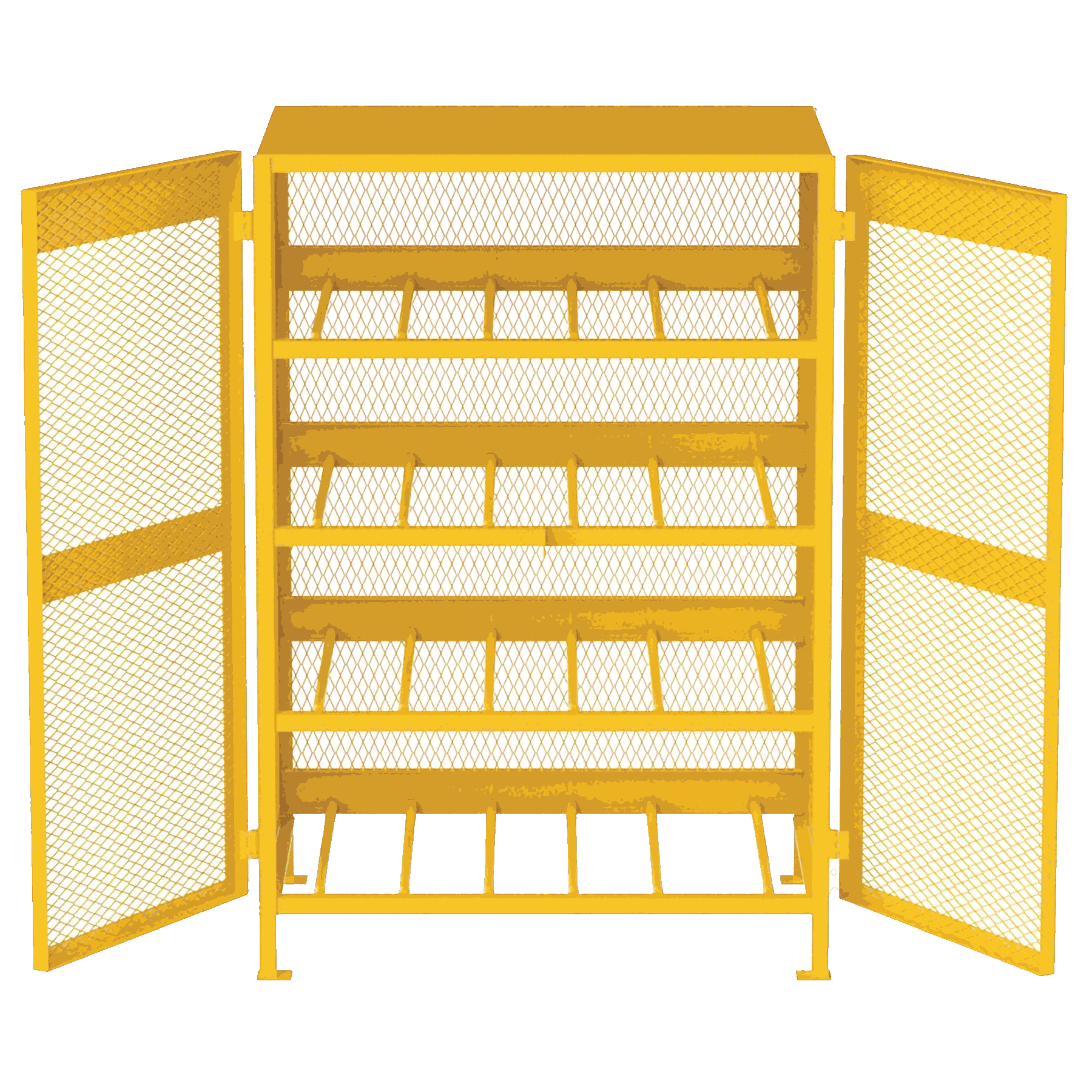 Safety cage for propane cylinder