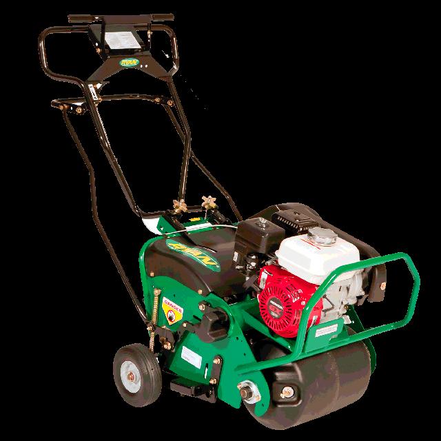 Lawn aerator roller gas