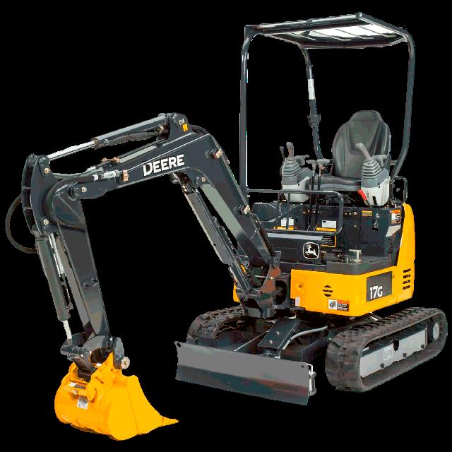 Excavatrice diesel 3790lbs 39po